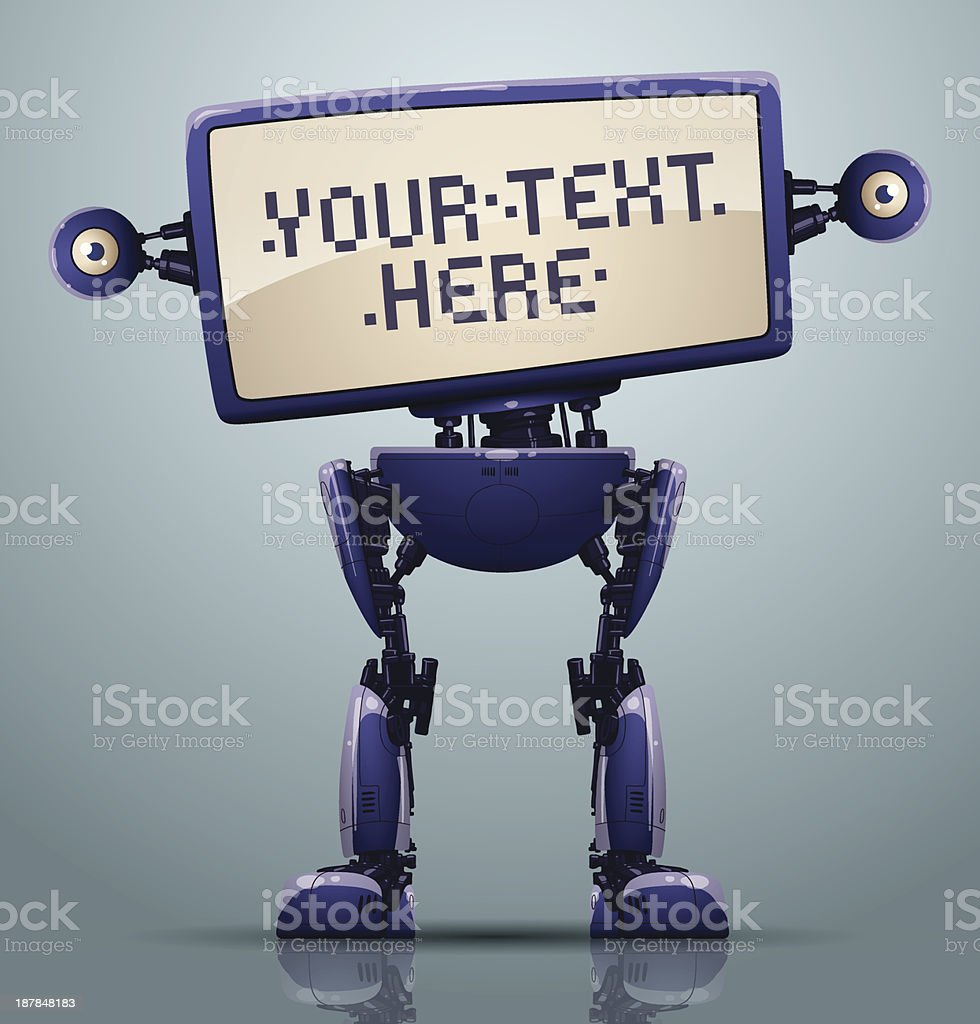 Purple robot banner royalty-free stock vector art