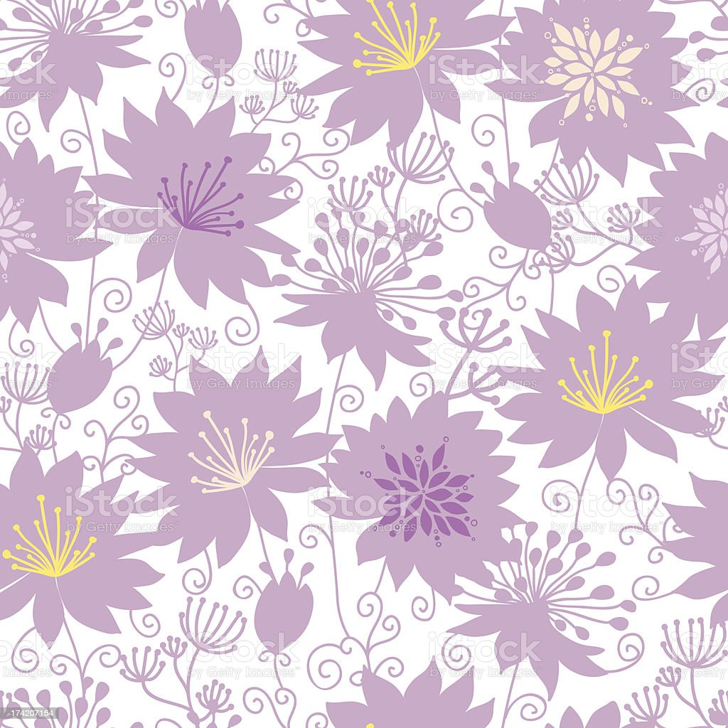 Purple shadow florals seamless pattern background royalty-free stock vector art