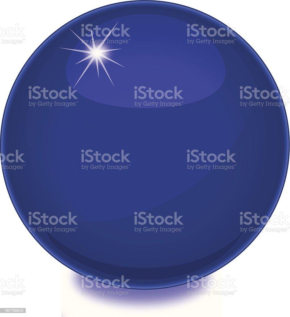 Purple Shiny Globe royalty-free stock vector art