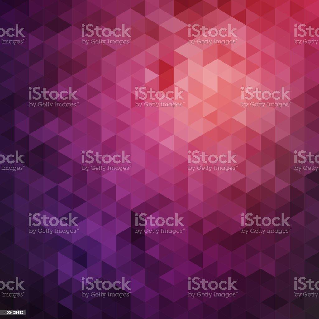 Purple triangles background vector art illustration