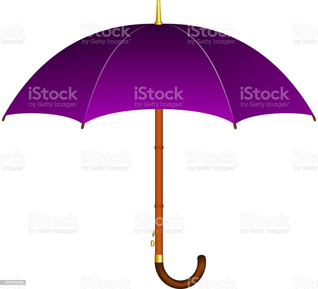 Purple umbrella royalty-free stock vector art