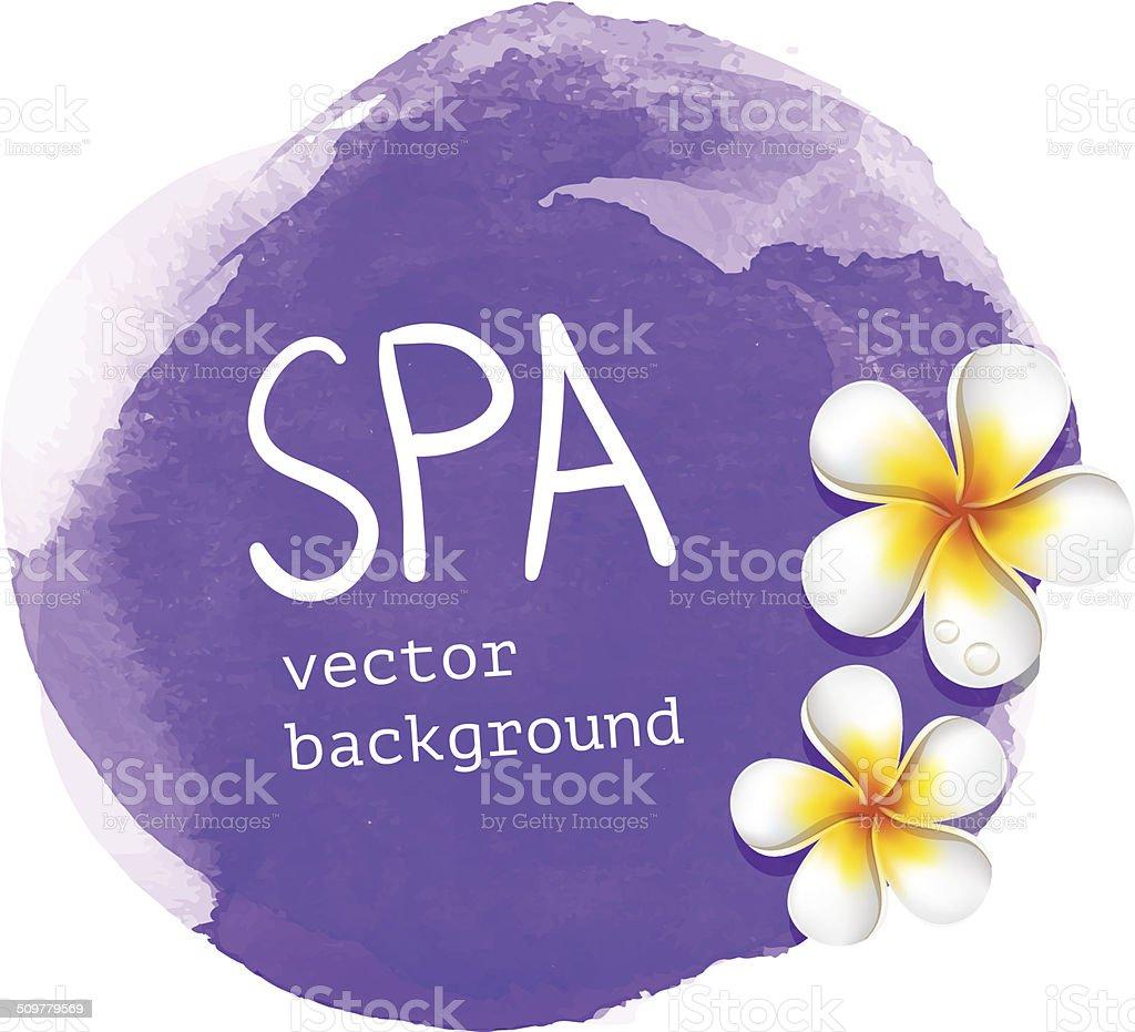 Purple watercolor spa background vector art illustration
