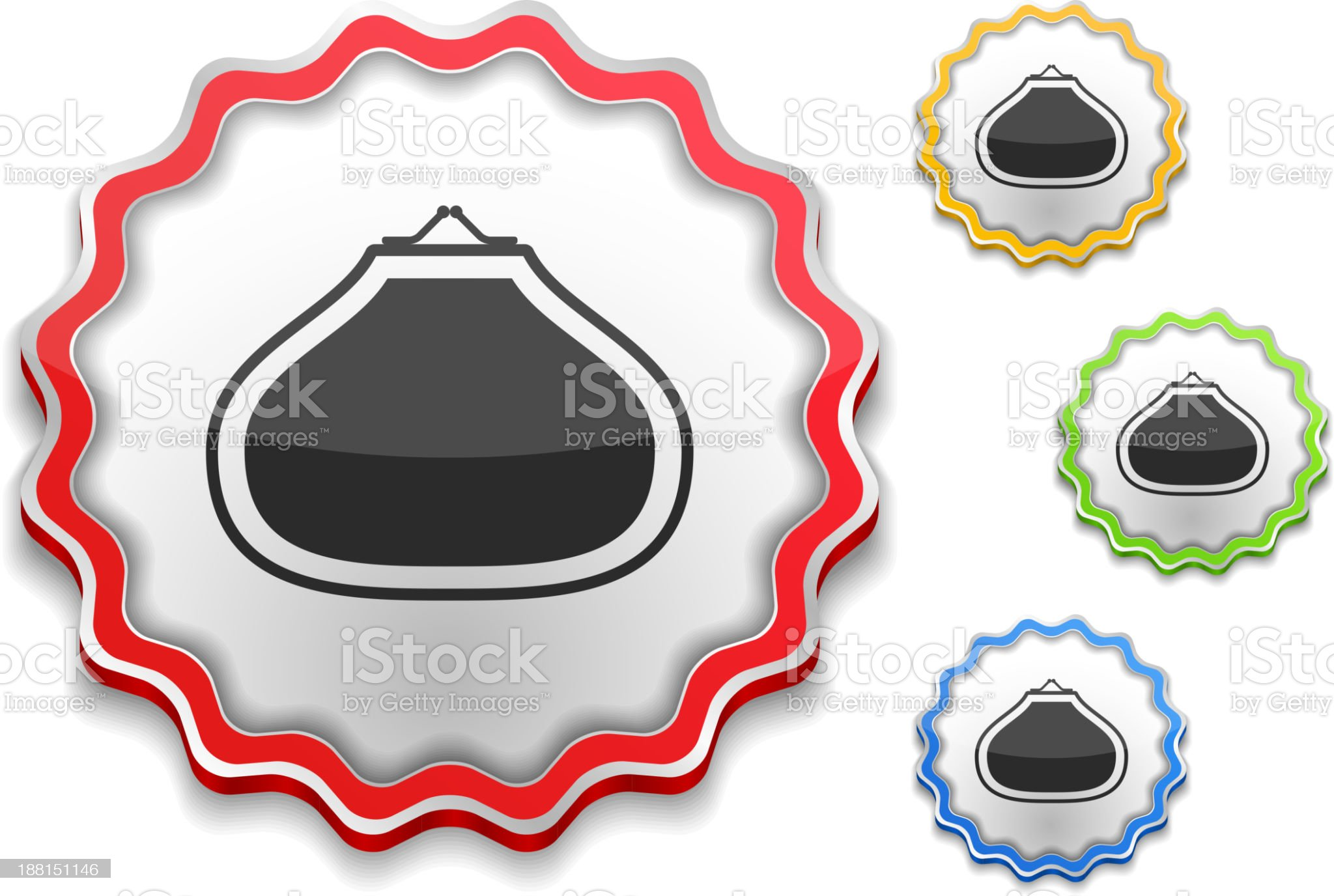 Purse Icon royalty-free stock vector art
