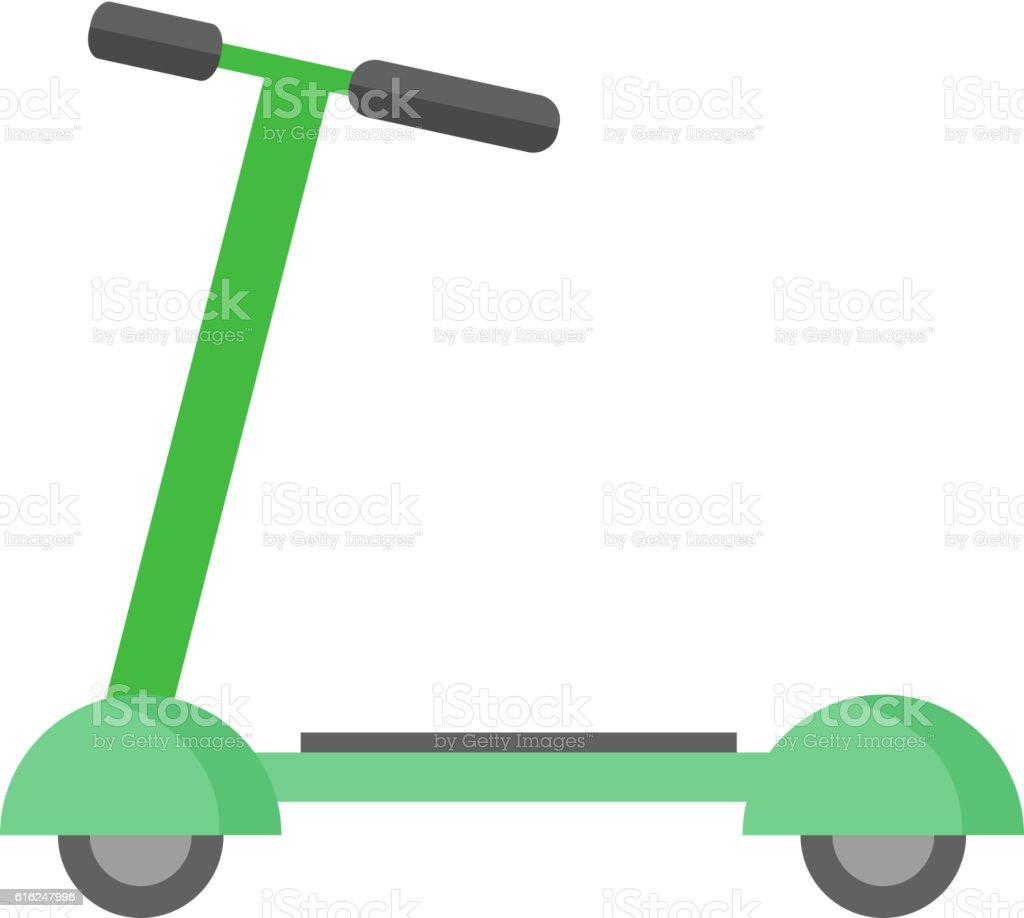 Push kick scooter vector illustration. vector art illustration