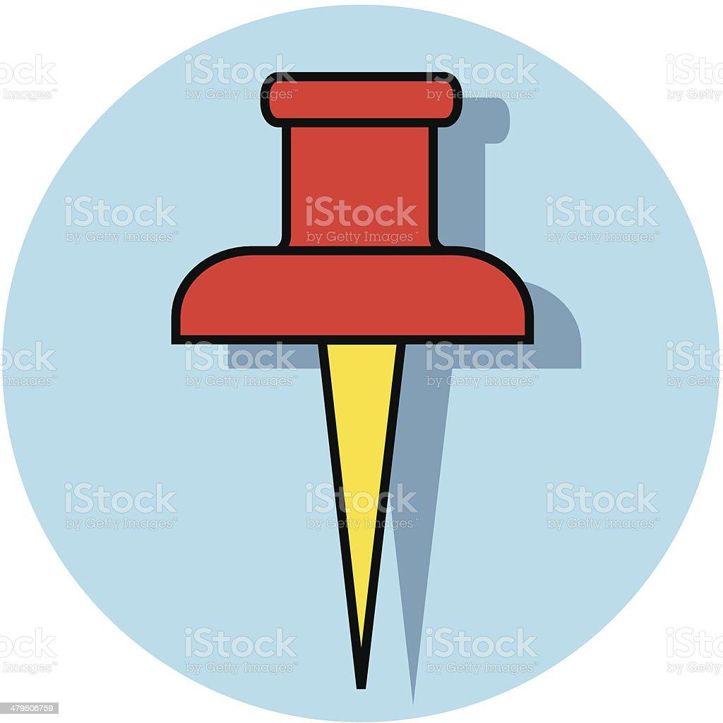 push pin icon royalty-free stock vector art