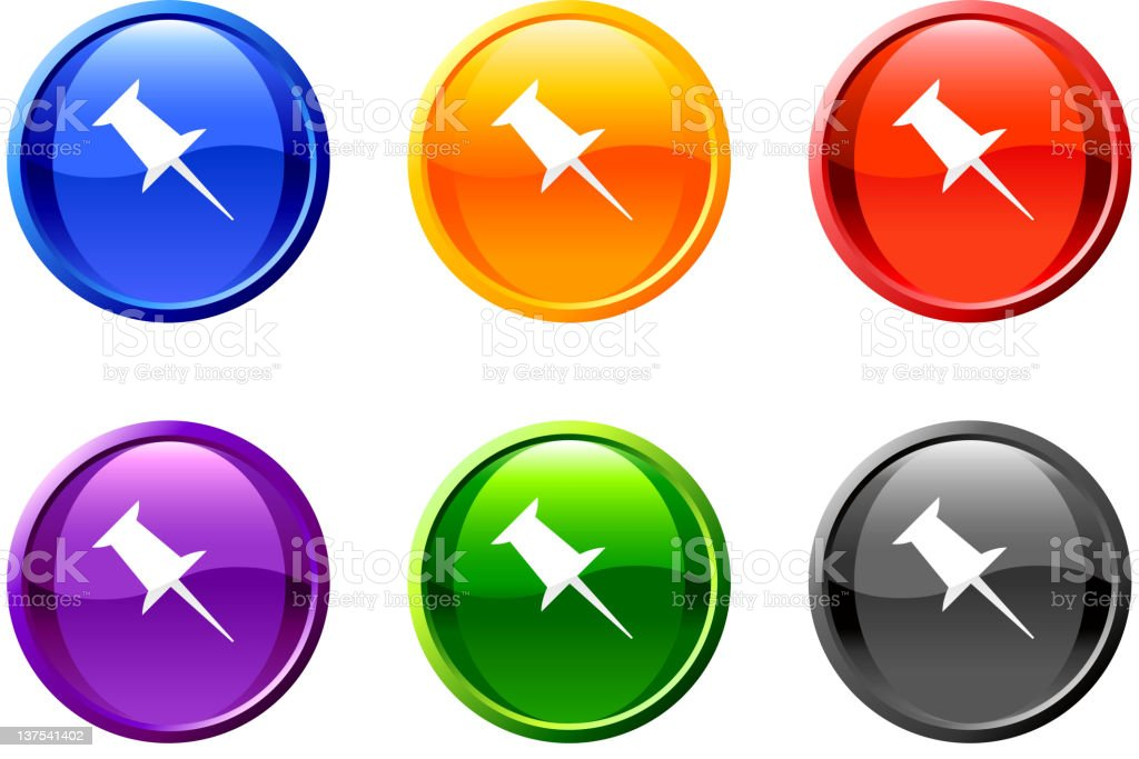 push pin royalty free vector icon set royalty-free stock vector art