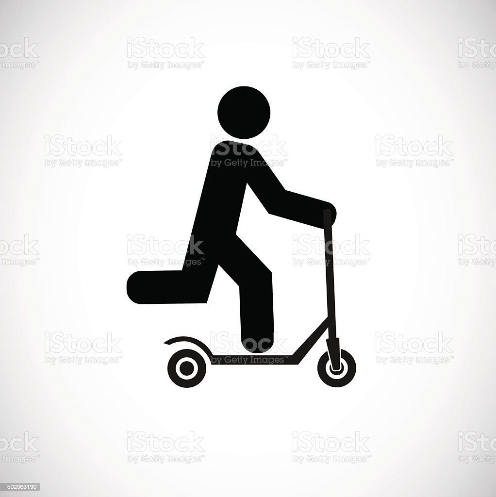 push scooter icon vector art illustration