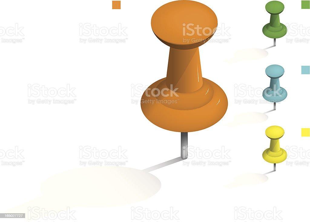 VECTOR PushPin - Flexible Colours royalty-free stock vector art
