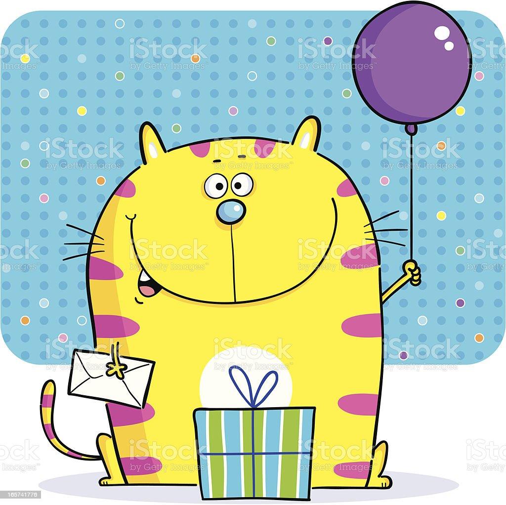 Pussy Cat Balloon royalty-free stock vector art