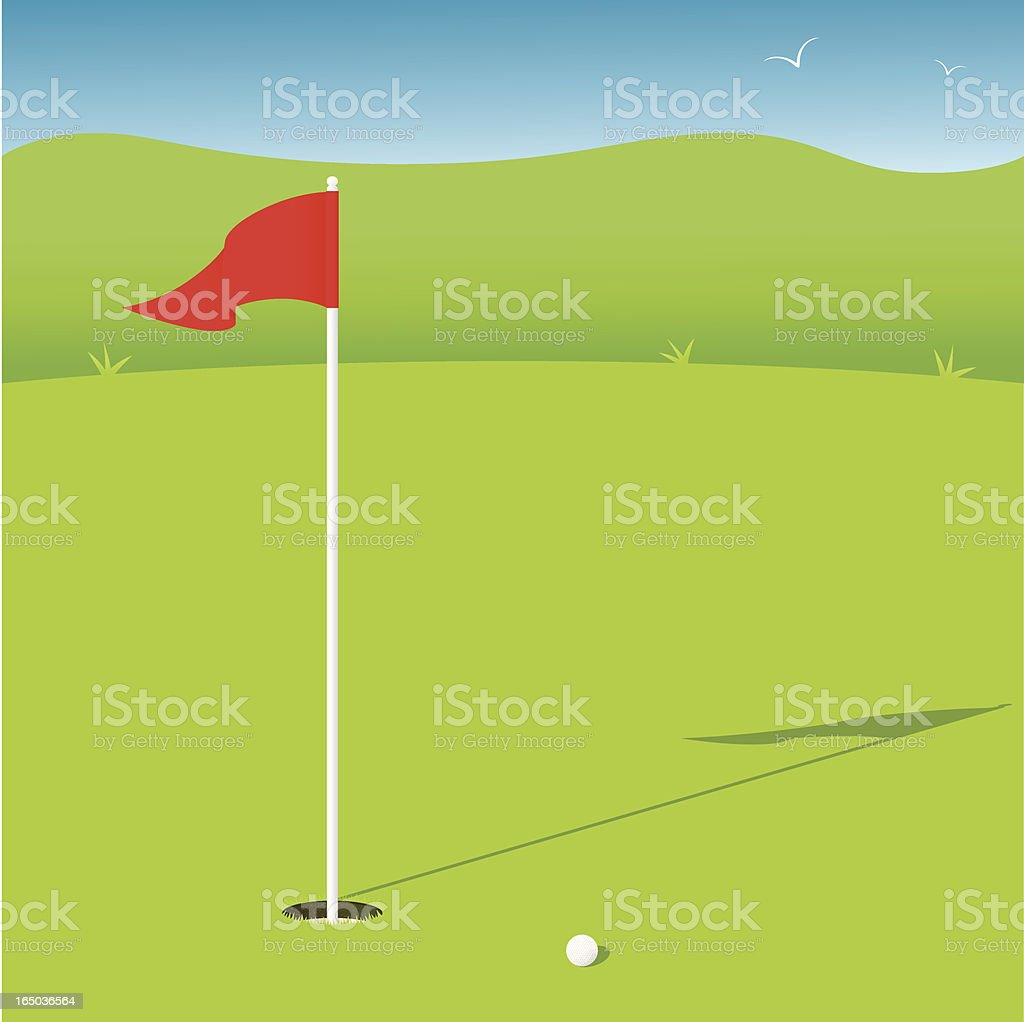 Putting Green - incl. jpeg royalty-free stock vector art