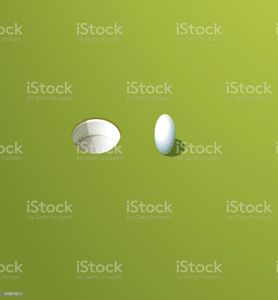 Putting green royalty-free stock vector art