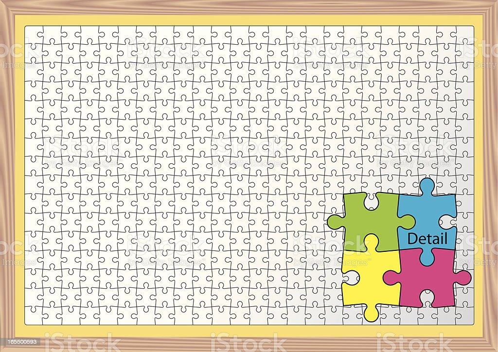 Puzzle 384 Piece royalty-free stock vector art