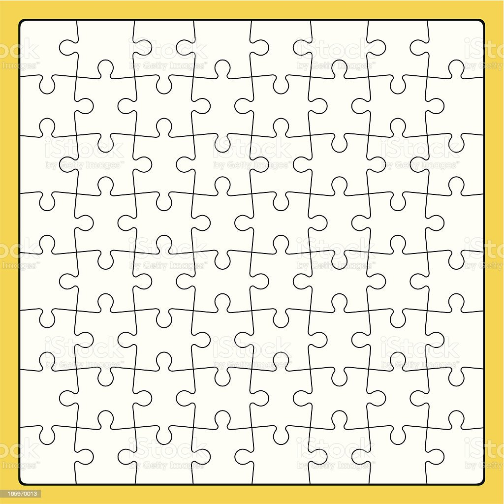 Puzzle 64 Pieces royalty-free stock vector art