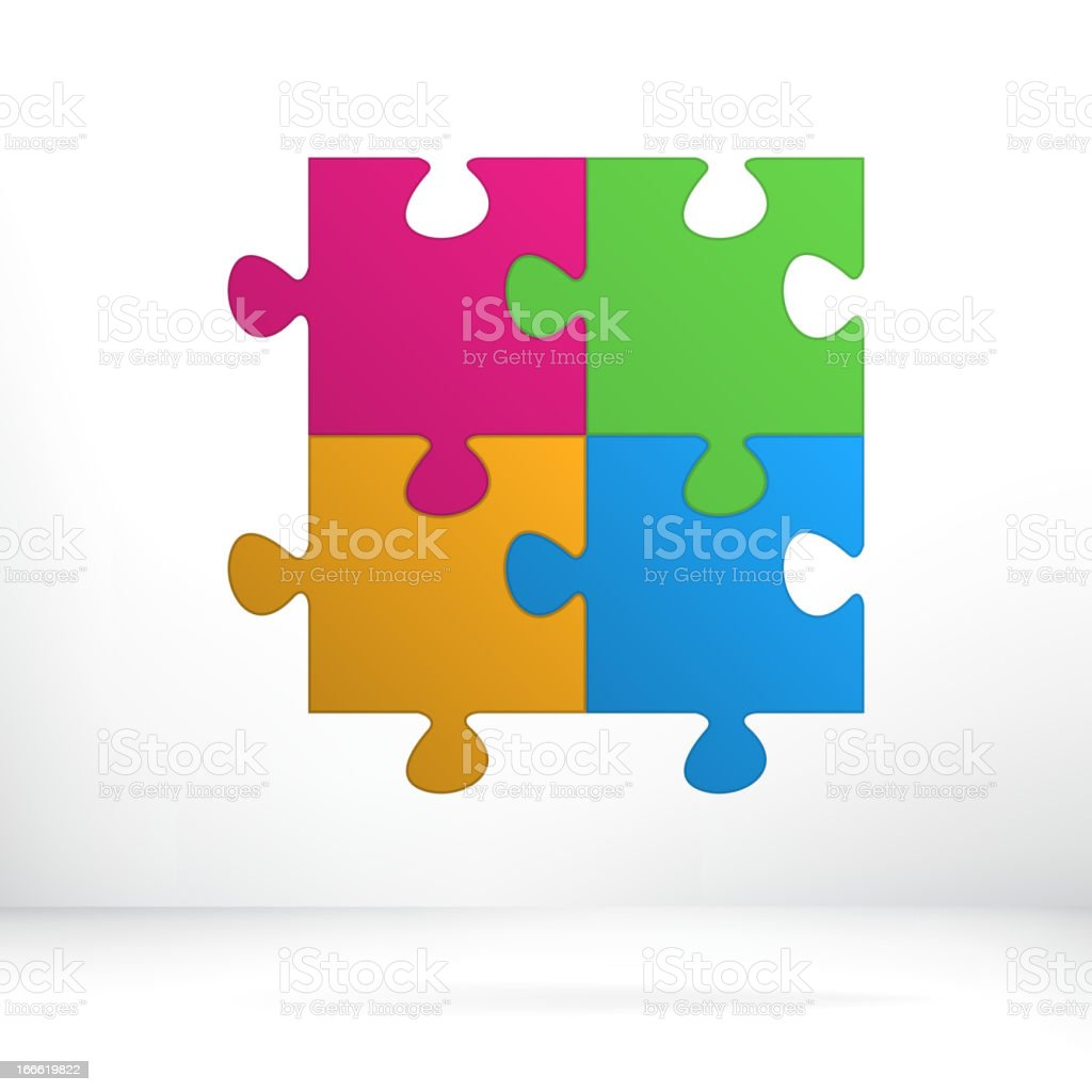 Puzzle abstract illustration concept.  + EPS8 royalty-free stock vector art