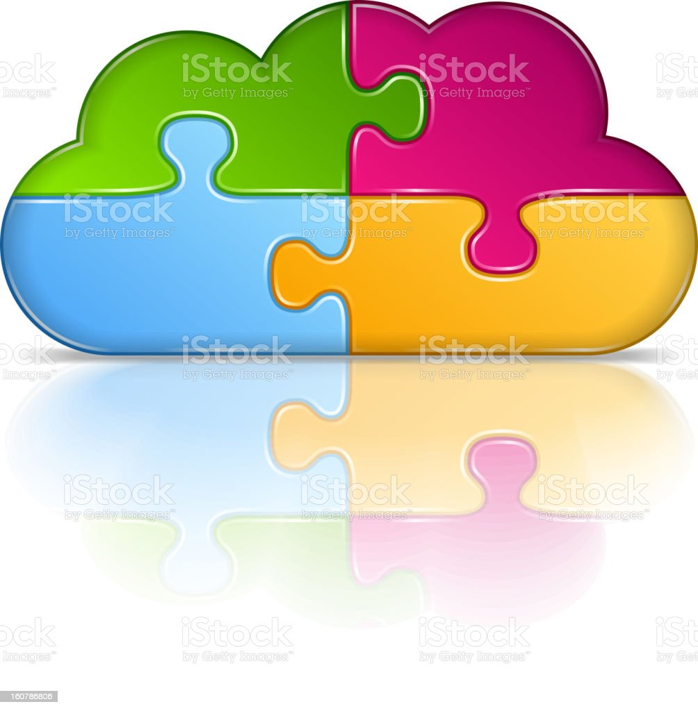 Puzzle Cloud royalty-free stock vector art