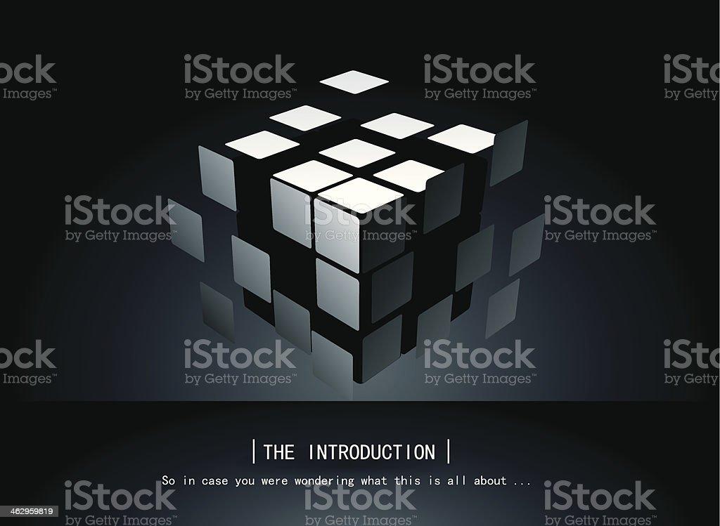 Puzzle Cube vector art illustration