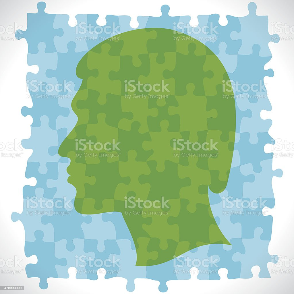 puzzle face royalty-free stock vector art