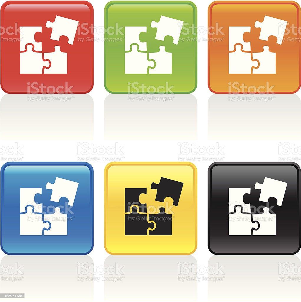 Puzzle Icon vector art illustration