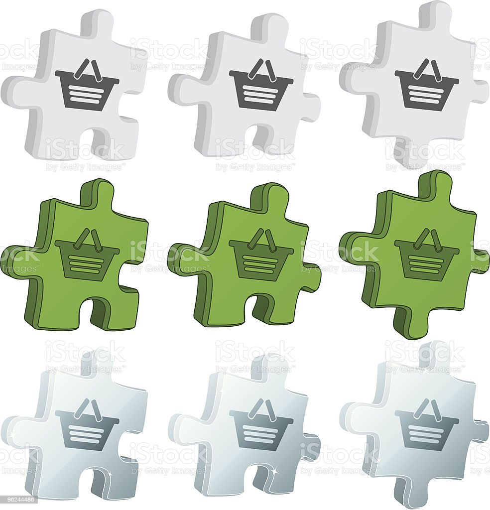 puzzle icons - basket royalty-free stock vector art