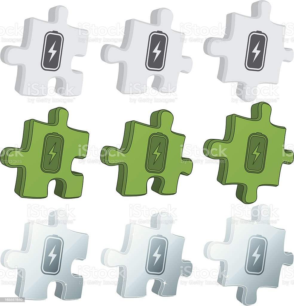 puzzle icons - battery royalty-free stock vector art