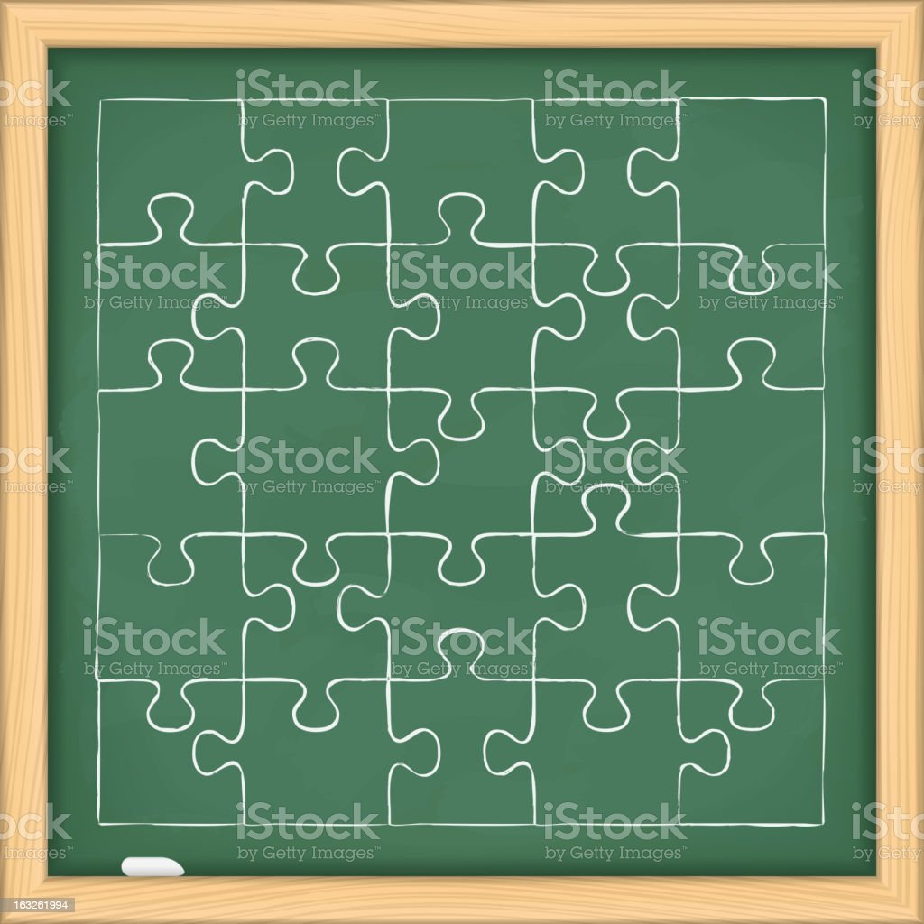 Puzzle on Blackboard royalty-free stock vector art