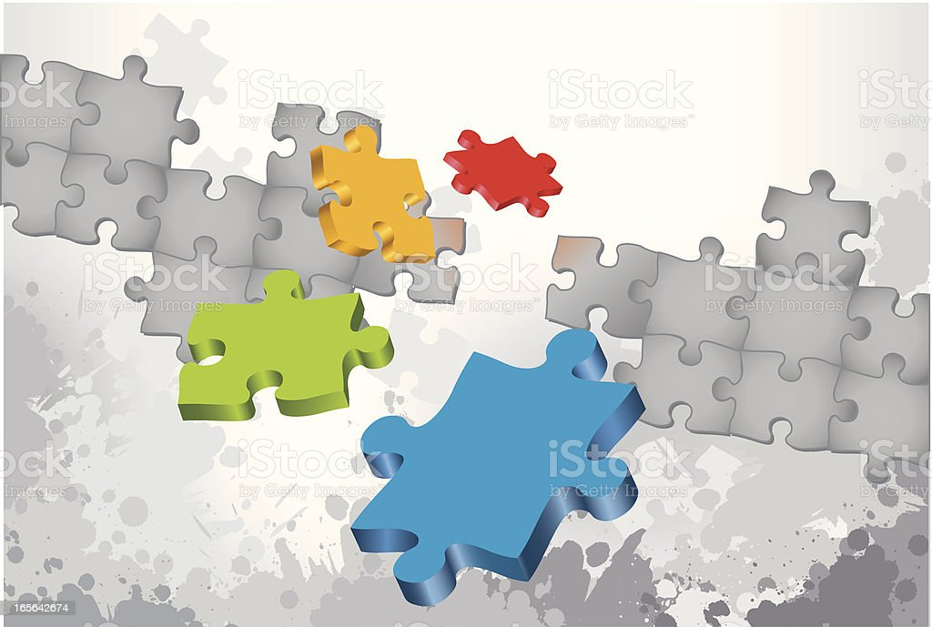 Puzzle Option Selection royalty-free stock vector art