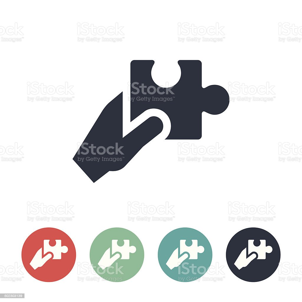 Puzzle Piece Icon vector art illustration