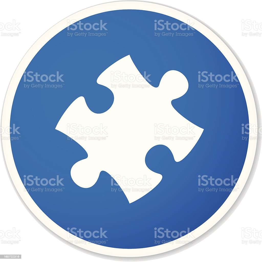 puzzle piece sticker royalty-free stock vector art