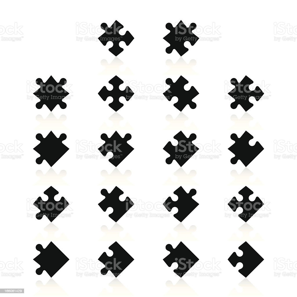 Puzzle Pieces royalty-free stock vector art