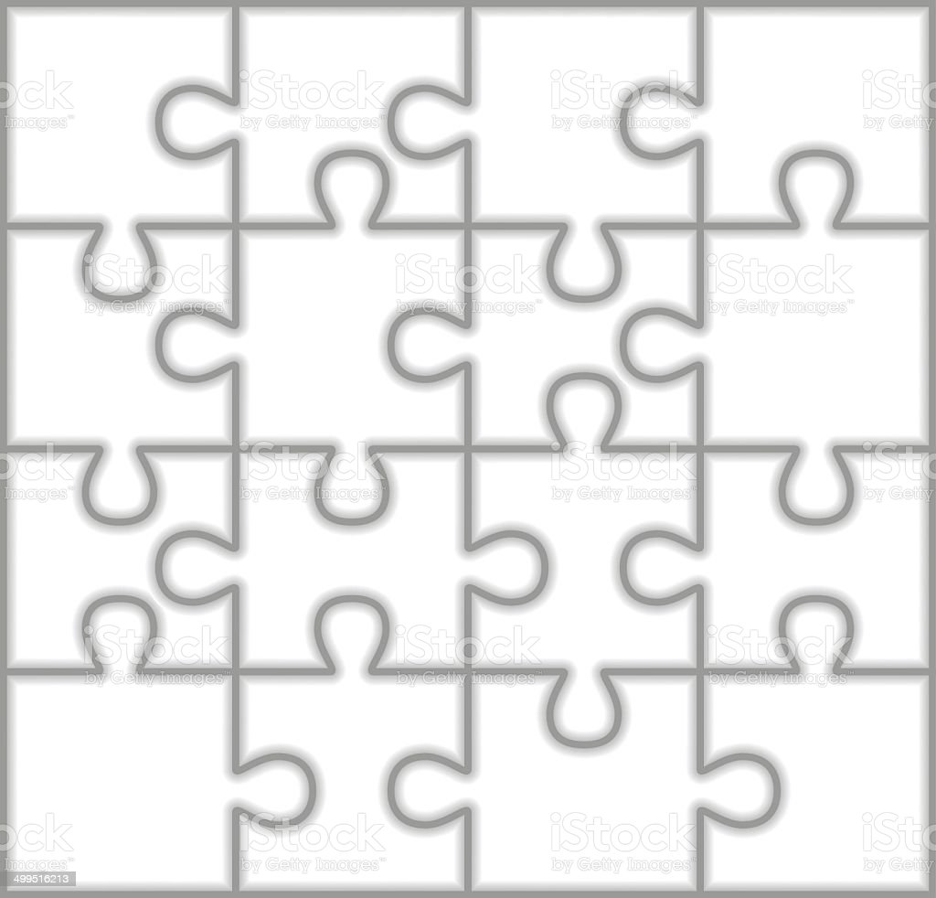 Puzzle Pieces vector art illustration