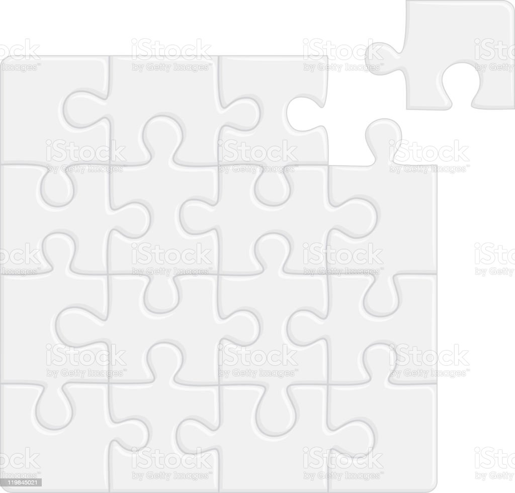 Puzzle, separate pieces royalty-free stock vector art
