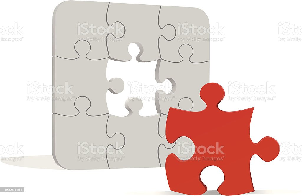 Puzzle solution royalty-free stock vector art