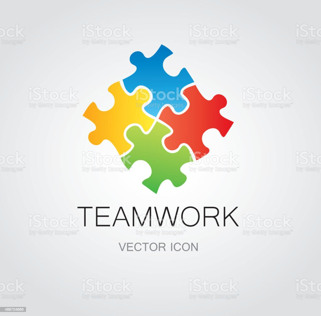 Puzzle symbol vector art illustration