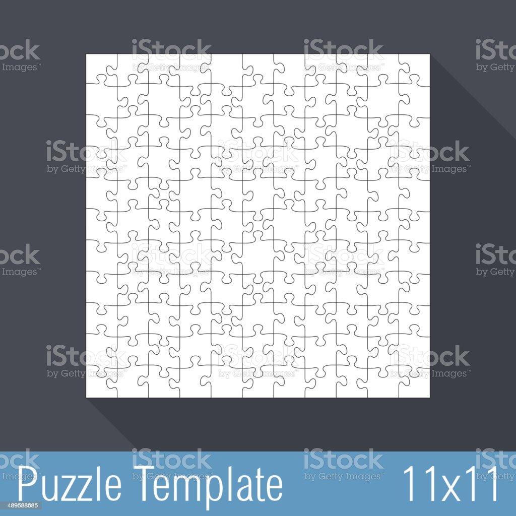 Puzzle Template 11x11 royalty-free stock vector art