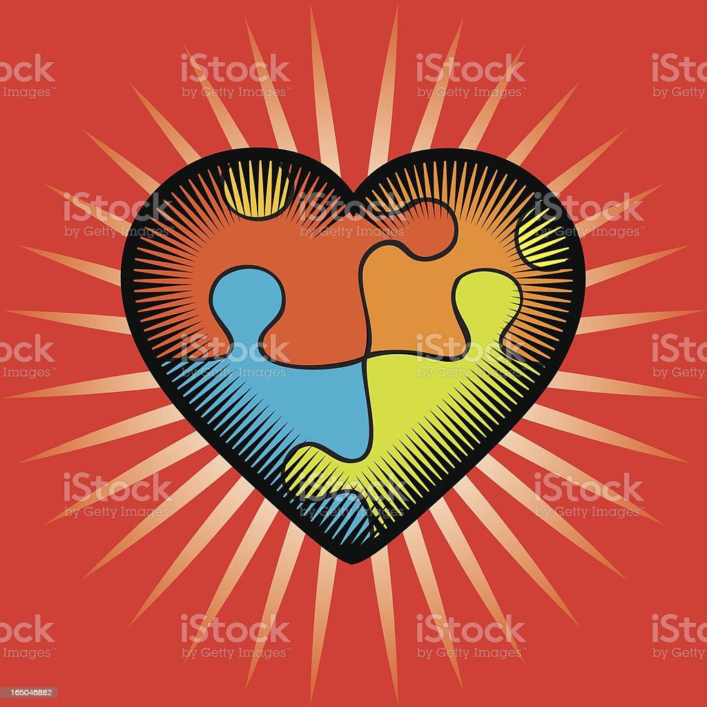Puzzle Valentine royalty-free stock vector art