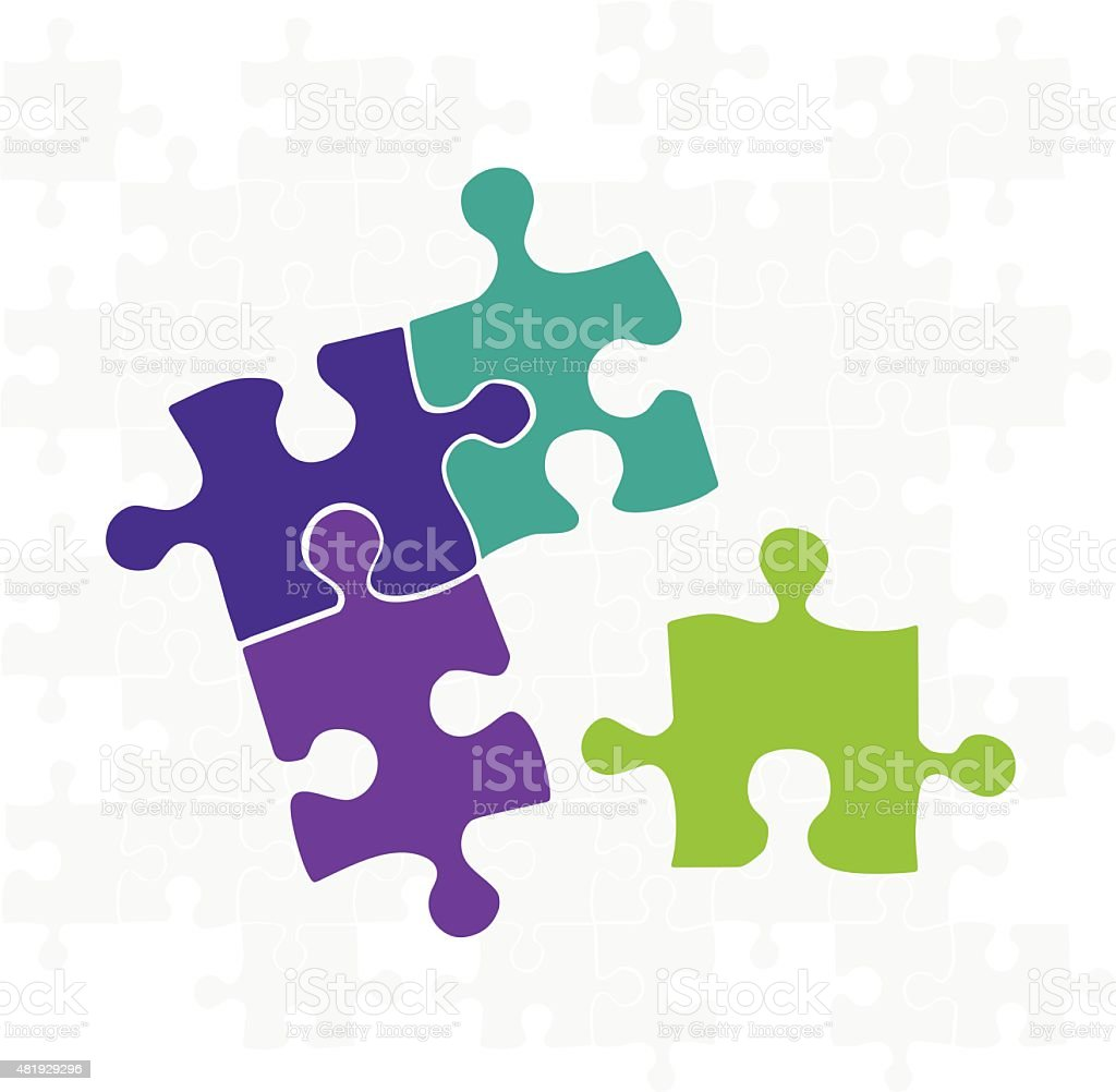 Puzzle vector art illustration