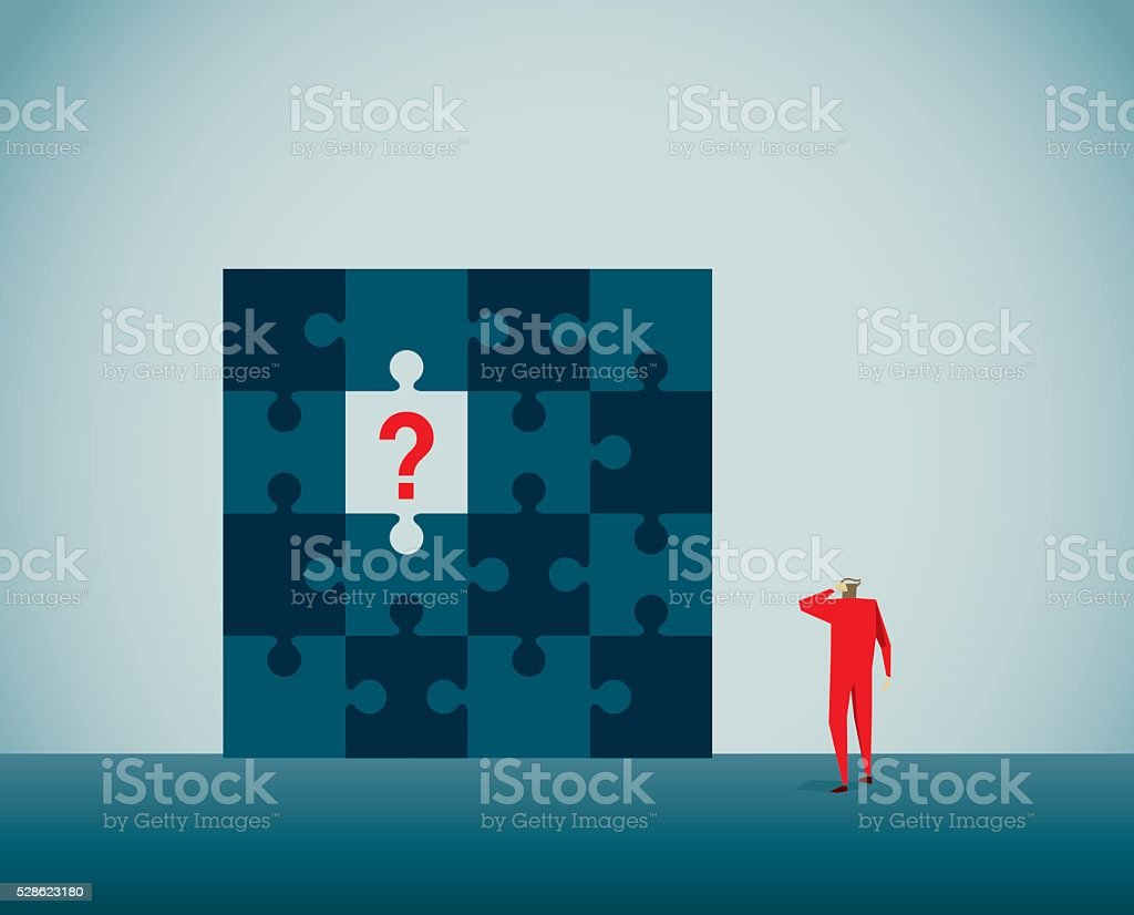 Puzzle vector art illustration