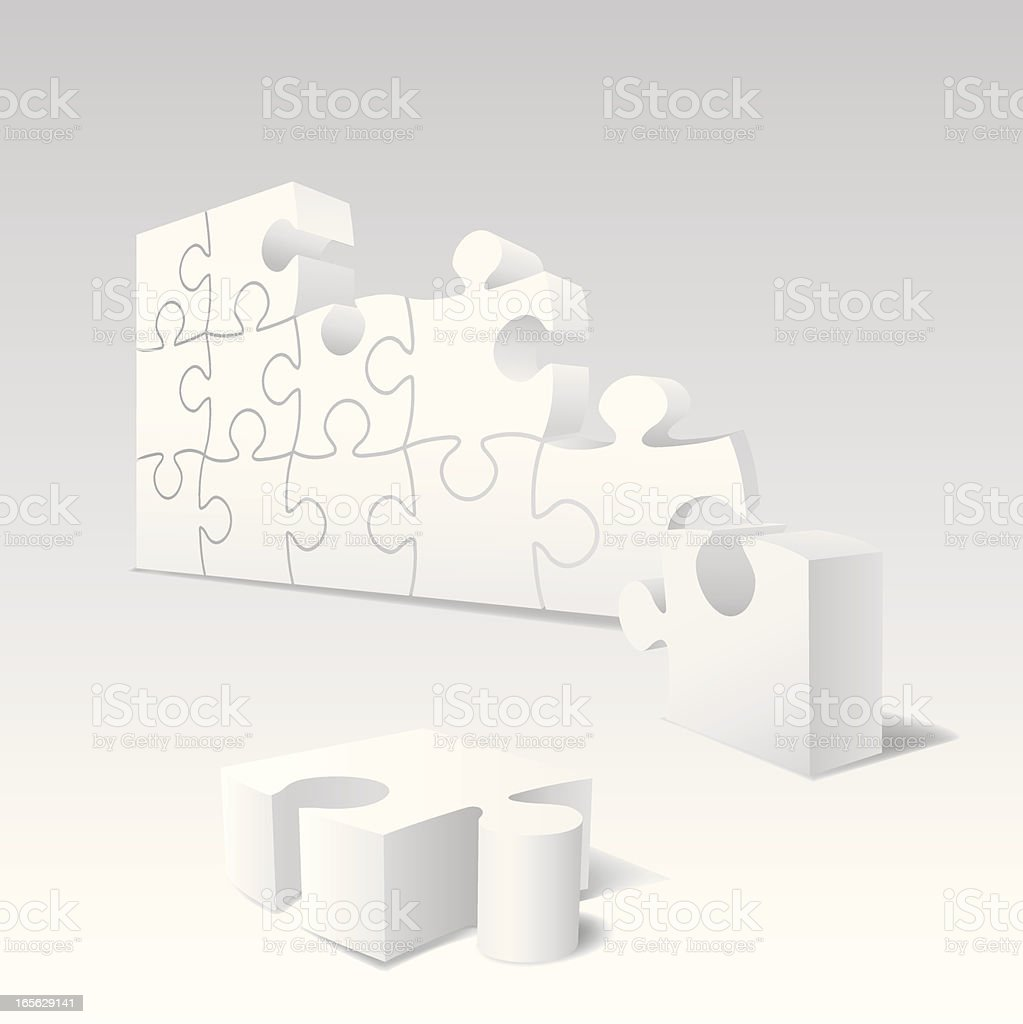 Puzzle Wall royalty-free stock vector art