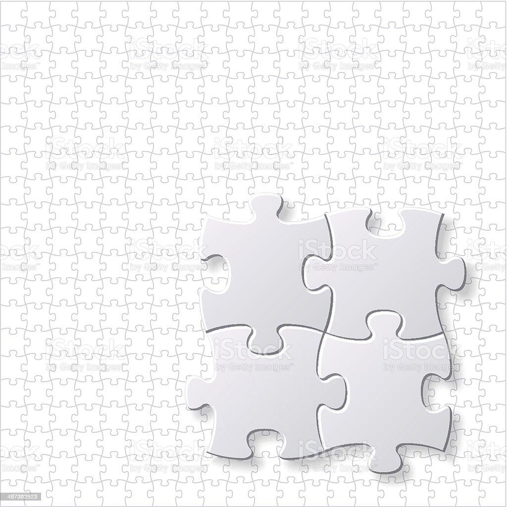 Modelo de vetor de quebra-cabeças em branco vetor e ilustração royalty-free royalty-free