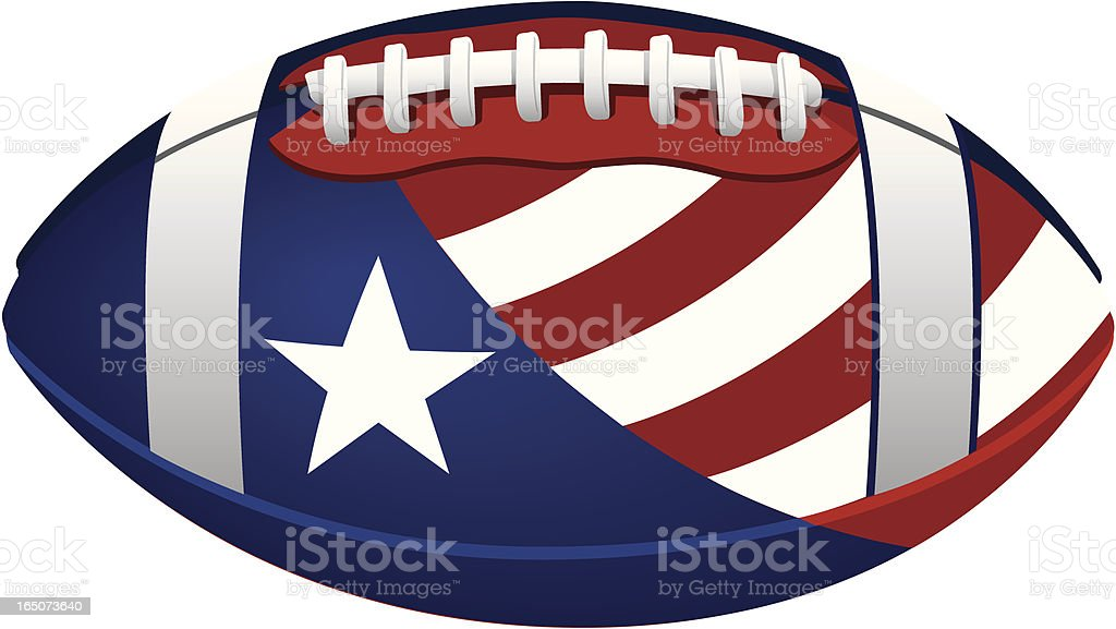 PVector Patriotic Football royalty-free stock vector art
