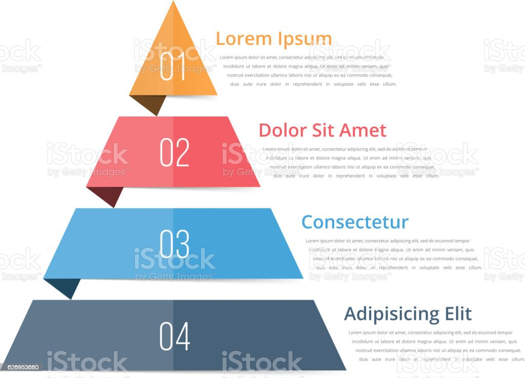 Pyramid Chart Template vector art illustration