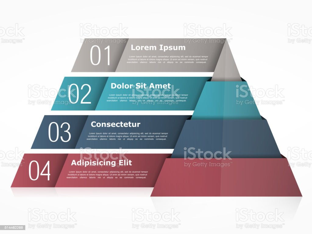 Pyramid Chart vector art illustration
