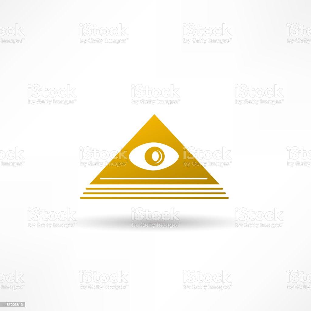 Pyramid Eye vector art illustration