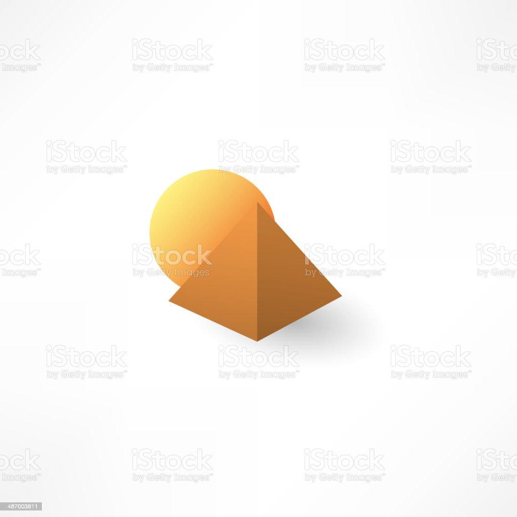 pyramid icon vector art illustration