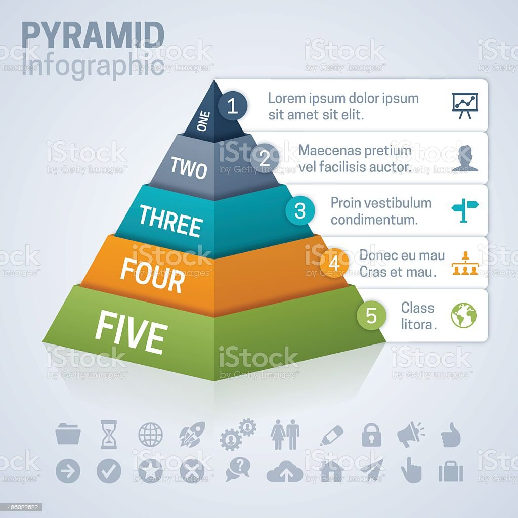 Pyramid Infographic vector art illustration