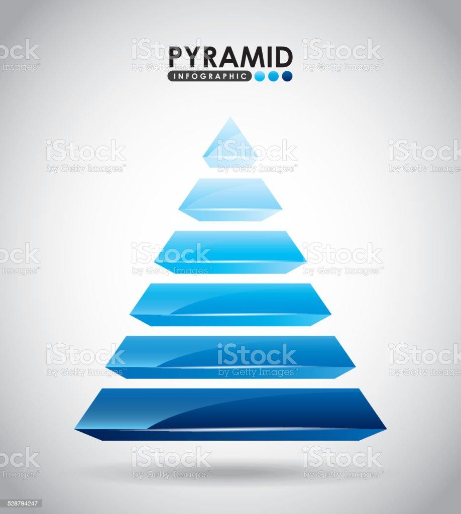 pyramid infographic vector art illustration