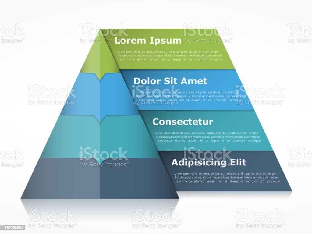 Pyramid Infographics vector art illustration