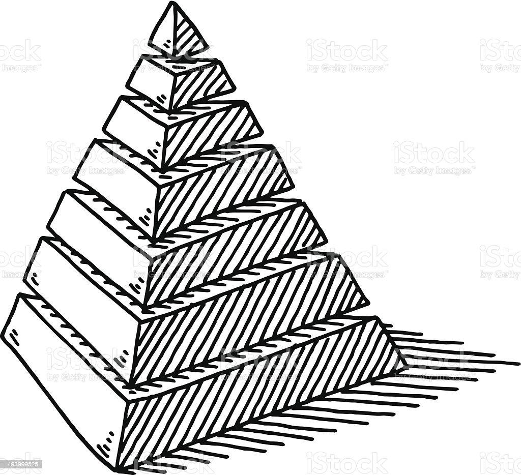 Calques de dessin abstrait pyramide stock vecteur libres - Dessin de pyramide ...