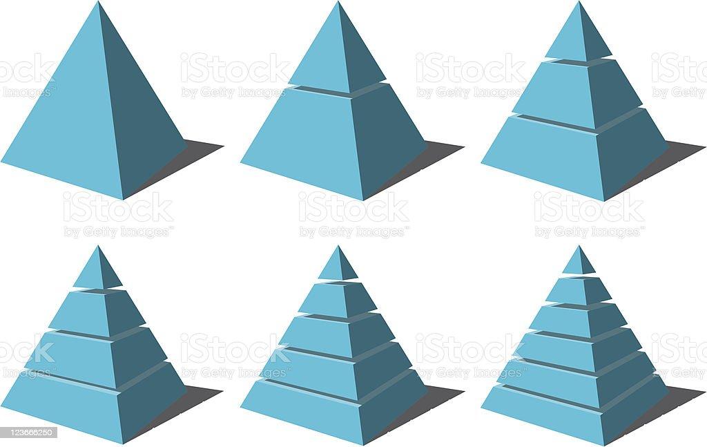 Pyramid Model royalty-free stock vector art