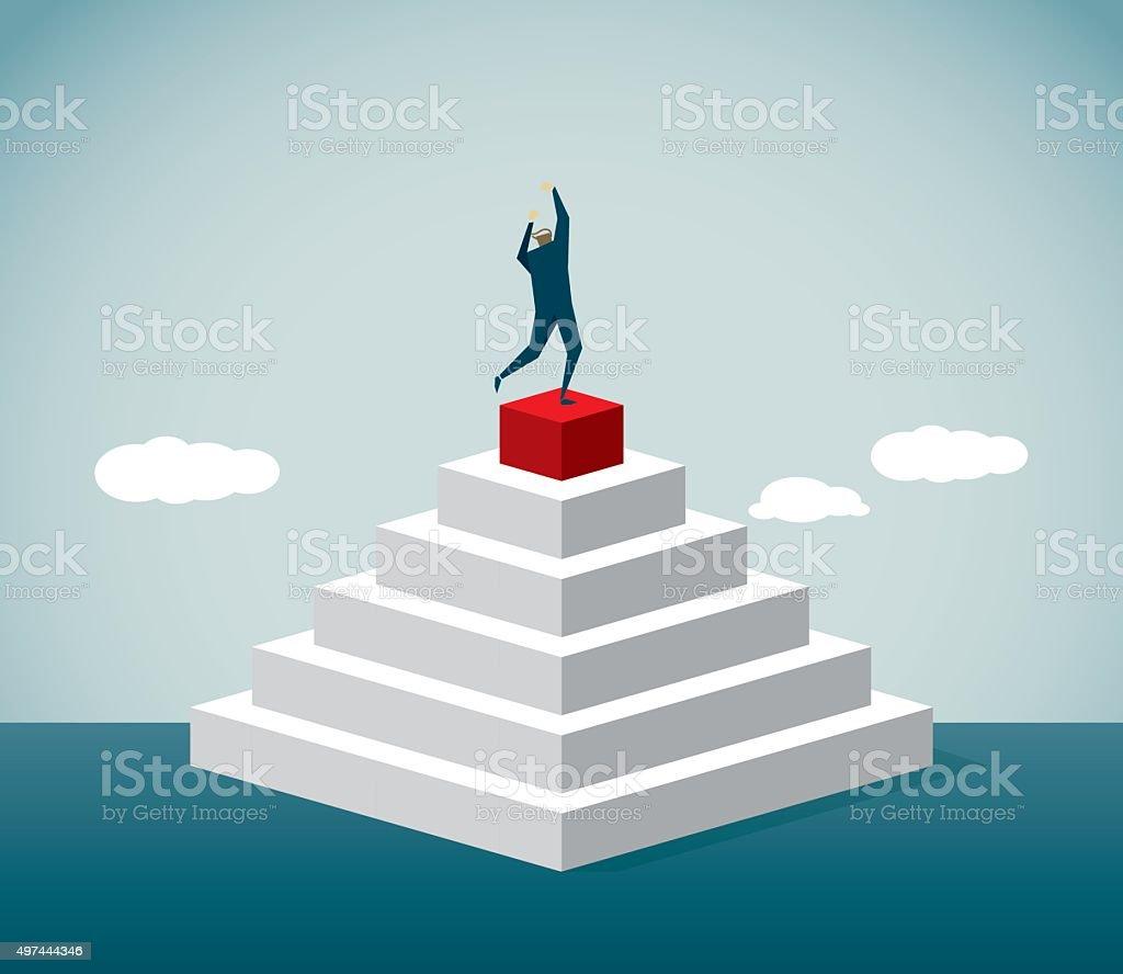 Pyramid Shape vector art illustration